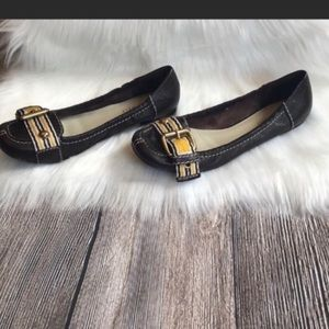 Nine West Buckle Detail Flats - loafer style